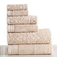 Shop for Panache Home Jacquard/Paisley Collection Cotton Towel set. Get free delivery On EVERYTHING* Overstock - Your Online Bath Linens Store! Linen Towels, Bath Towels, Paisley, Fingertip Towels, Turkish Cotton Towels, Hand Towel Sets, Decorative Towels, Washing Clothes, Ivory