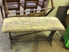 """Antique Metal Frame Bench   Dealer #195  37"""" Wide x 13"""" Deep x 20"""" High   $295  Lucas Street Antiques Mall 2023 Lucas Dr.  Dallas, TX 75219  Located close to Dallas' Design District within"""