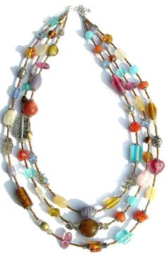 Fair Trade Recycled Glass Confetti Bead Necklace