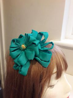 Special Occasion Headdress , georgette rosette on a comb , pretty delicate floral hairpiece to match or contrast with your outfit . Bridal Headdress, Bridal Wedding Shoes, Special Occasion, Occasion Wear, Satin Shoes, Lace Embroidery, Hair Ornaments, Beaded Lace, Rosettes