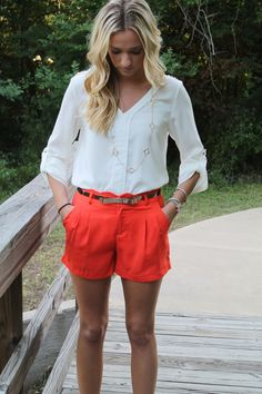These shorts... get into my closet! http://www.sidelinesass.com/collections/bottoms/products/poppy-shorts
