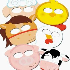 Free Printable Farm Animal Masks That Your Kids Will Love! Try these great farm animal masks today! Your kids will love playing with these free printable animal masks. Party Animals, Farm Animal Crafts, Farm Animal Party, Animal Crafts For Kids, Farm Unit, Farm Activities, Animal Activities For Kids, Movement Activities, Farm Birthday