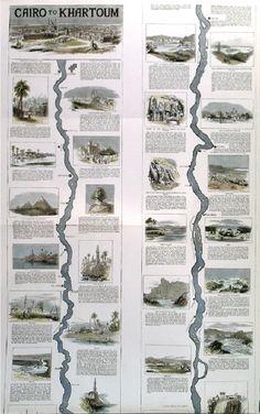 MapCarte Cairo to Khartoum by The Graphic, 1884 Map Design, Cartography, Map Art, Cairo, Creative, Maps, Map, Peta, Cards