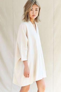 Urban Renewal Remade V-Neck Flannel Sack Dress