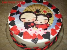 birthday happiness, pucca cake... i don't care how old i am