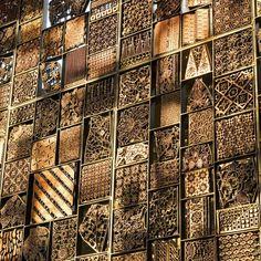 Carved wall detail on Alila Villas Uluwatu Resort in Bali, Indonesia. Architect WOHA