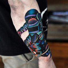 Astronaut Tattoo by David Cote