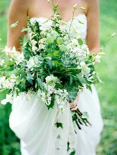 White + Green Lush Oversized Wedding Bouquet