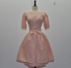 Vintage 1960 Dress 2 Piece Peach Lace  by BettyJeanVintage on Etsy, $170.00