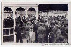 Postal fotográfica ORIGINAL. Autoridades civiles y militares españolas en Feria de Caballo. Tanger??