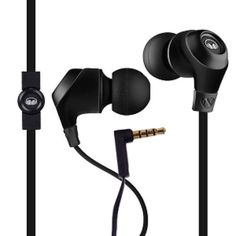 Monster Ncredible N-Ergy Tangle-Free In-Ear Headphones w/Inline Remote/Microphone (Midnight Black)