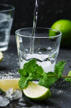Mojito cocktail in a bur on a rustic table by Oxana Denezhkina on 500px