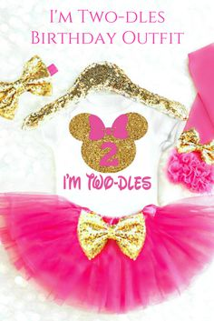 I'm Twodles Birthday Outfit for Minnie Mouse Birthday Parties! Oh Twodles Birthday Outfit can come in any colors!