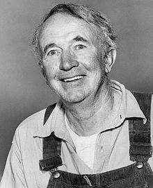 Walter Brennan in the  Real McCoys tv show,1958.  He won 3 Oscars for his acting.   Walter was born July 25, 1894-D: September 21, 1974.