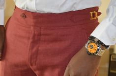 LMT Detail. #Menswear #Tailored Men Trousers, Mens Dress Pants, Slim Fit Trousers, Men Dress, Gents Fashion, Mens Fashion Suits, Mens Suits, Cool Outfits For Men, Casual Trends