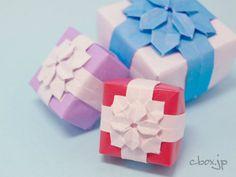 藤本修三さんの「あじさい(⇒折り方ここ)」をベースにしたコロンと可愛いギフトボックスです。 Origami Flowers Tutorial, Flower Tutorial, Useful Origami, Origami Easy, Diy And Crafts, Arts And Crafts, Paper Crafts, Pen Pal Letters, Paper Folding