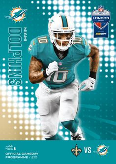 6cd2b7051 Miami Dolphins V New Orleans Saints - Programme Master Official Match Day  Programmes