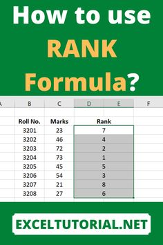 How to use RANK Formula . #Excel #microsoftexcel #Exceltutorial #Exceltutorials #Exceltutor #tutorialexcel #microsofttrainingexcel #microsoftexceltips #Excelformulas #Excelvba #Exceltips #Exceltipsandtricks #Excelvideo #Excelshorcuts Technology Hacks, Computer Technology, Energy Technology, Computer Tips, Medical Technology, Computer Programming, Excel Tips, Excel Hacks, Microsoft Excel Formulas