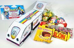 Topa Junior Express Caja Confites + Tarjeta Invitacion de DESIGNSNDS en Etsy
