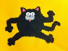 Splat the Cat! with a splat of black paint