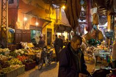 Morocco Market | Markets are lively and fascinating day or night here. Photo Credit ...