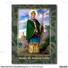 Happy Saint Patrick's Day Religious Postcards. Matching cards, postage stamps and other products available in the Holidays / St. Patrick's Day Category of the oldandclassic store at zazzle.com