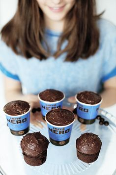 Caffe Nero cupcakes in our espresso cups