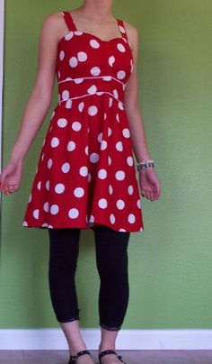 Red Polka dot babydoll dress *NOW WITH TUTE!!* - CLOTHING FREE PATTERN