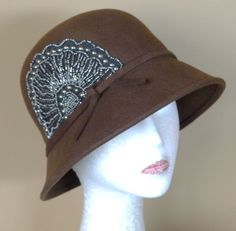 fe4b1838ce6 Swish Chocolate Brown Vintage Style 57cm Ladies Felt Cloche Formal WINTER  HAT
