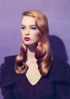 Vintage Hairstyles Tutorial Veronica Lake Inspired- gorgeous hair colour More - Sleek Hairstyles, Vintage Hairstyles, Wedding Hairstyles, Everyday Hairstyles, Veronica Lake Hair, Pelo Retro, Wedding Makeup Redhead, Hair Rainbow, Gorgeous Hair Color