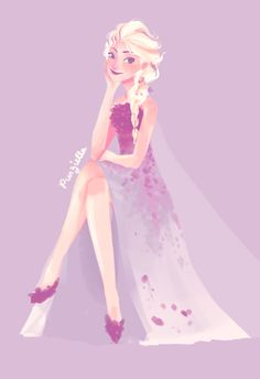 day 70890 and I'm still not into Elsa's new dress. inspiration