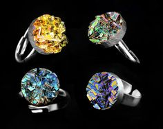 Bismuth Crystal Ring August 2017