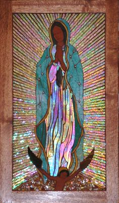 Our Lady of Guadalupe - ADVENT 2015 Reflection for the Feast of Our Lady of Guadalupe . Blessed Mother Mary, Divine Mother, Blessed Virgin Mary, Catholic Art, Religious Art, Mosaic Portrait, Queen Of Heaven, Mama Mary, Holy Mary