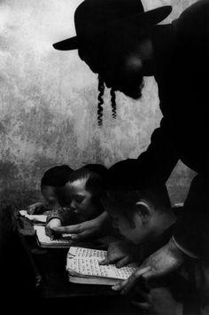 hebrew lesson, brooklyn, nyc, 1955