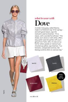 2014: Spring/Summer: Color Charts from InStyle Magazine #whattowearwith #Dove #yellow