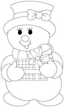 Christmas Coloring Pages - Snowman Christmas Templates, Christmas Printables, Christmas Projects, Holiday Crafts, Christmas Patterns, Christmas Drawing, Felt Christmas, Christmas Colors, Christmas Decorations