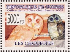 African Wood Owl stamps - mainly images - gallery format