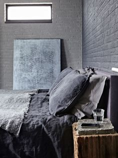 Discover manly interior designs with the top 80 best bachelor pad men's bedroom ideas. Explore cool masculine spaces fit for any royal king to sleep. Bedroom Minimalist, Interior Design Minimalist, Home Bedroom, Bedroom Decor, Bedroom Ideas, Gray Bedroom, Master Bedroom, Charcoal Bedroom, Grey Room