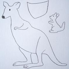 kangaroo craft template | early play templates: Australian Animals: simple kangaroos
