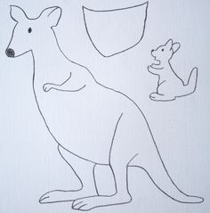 Kangaroo craft instead of paper pouch cut it from felt for Kangaroo puppet template