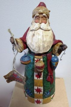 JIM Shore Heartwood Creek Christmas Santa Ornaments Figurine 105531 Have this… Jim Shore Christmas, Father Christmas, Christmas Paper, Christmas Goodies, Christmas Snowman, Santa Figurines, Wooden Figurines, Collectible Figurines, St Claus