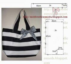 Black and white fabric bag Handmade Handbags, Handmade Bags, Diy Bags Purses, Diy Handbag, Types Of Bag, Fabric Bags, Beautiful Bags, Tote Handbags, Sewing Tutorials