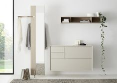Hall Interior, Interior Design, Shoe Rack Closet, Shoe Racks, Black Edition, Floating Nightstand, Entryway, Living Room, Mirror
