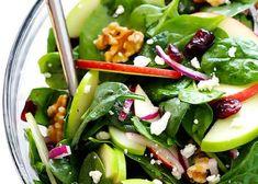 Recette : Salade d'épinards aux pommes