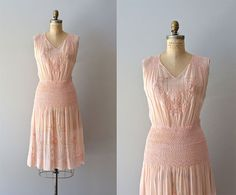 St. Millay dress  vintage 1920s embroidered dress  by DearGolden, $75.00