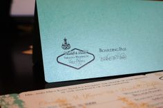 New to anaderoux on Etsy: Deposit for Las Vegas Boarding Pass Invitation (50.00 USD)