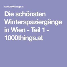 Die schönsten Winterspaziergänge in Wien - Teil 1 - 1000things.at Vienna, Winter, Gloves, Nice Asses, Winter Time, Winter Fashion