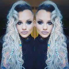 Wicked blue hair color melt Deep blue Shadow Root by Rickey Zito. Dreadlocks Dreadlocs by Rollie Locs. Model Brandi Zito hotonbeauty.com