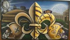 who dat and geaux tigers