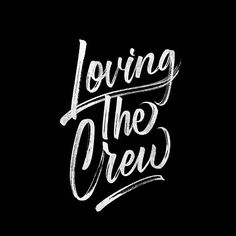 Loving the crew✨ . From a beautiful type work by @michaelvilorio __ ✔Featured by @thedailytype #thedailytype ✒Learning stuffs via: www.learntype.today __